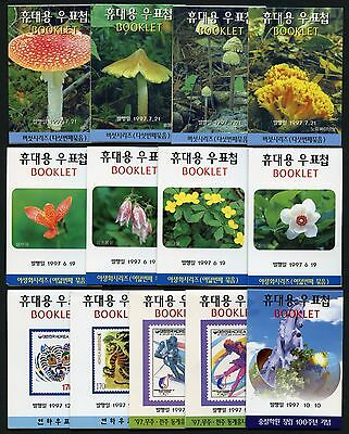 Korea Süd 1997 (29) Verschiedene Markenhefte Different Stamp Booklets MNH
