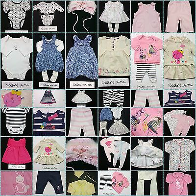 Baby Girls BUILD A BUNDLE Babygrows, Sleepsuits, Rompers Newborn Upto 7.5lbs VGC