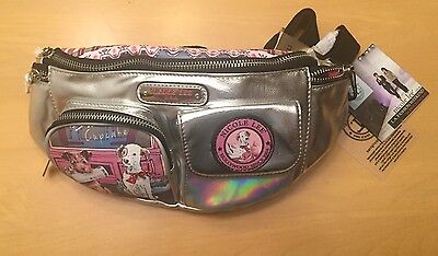 New NICOLE LEE CUPCAKE DOG Print Women's FANNY PACK - SILVER waist pack