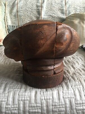 Millinery 5 piece puzzle 40s sylized beret wooden hat Mold Block