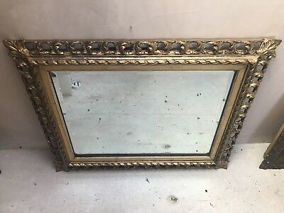 Ornate Antique Gold Wall Mirror