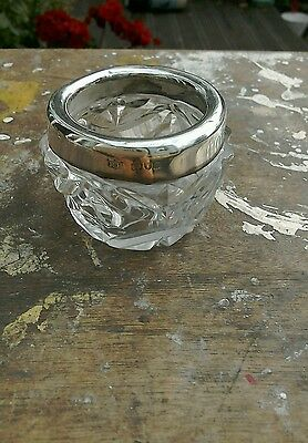 Antique Silver Mounted Cut Glass Salt