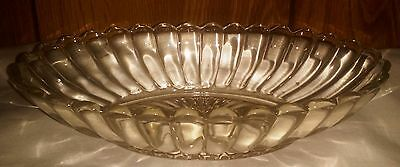 Clear Glass Dish with a Faintly Yellow Tint 5 x 8.5 Perfect Condition Scalloped