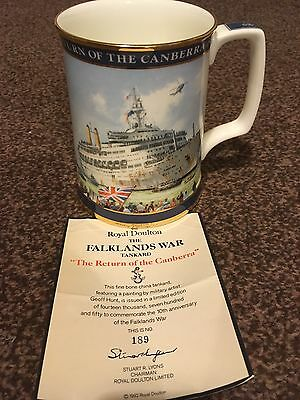 Collectable Tankard  Falklands With Certificate