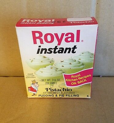 Vintage  Royal Instant Pistachio Pudding Full Box
