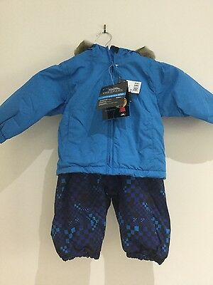 NEW Tresspass infant snowsuit snow jacket and bib trousesrs 6/12 mo