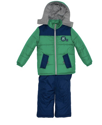 NEW iExtreme green infant snowsuit snow suit puffer coat and ski bib 12 months