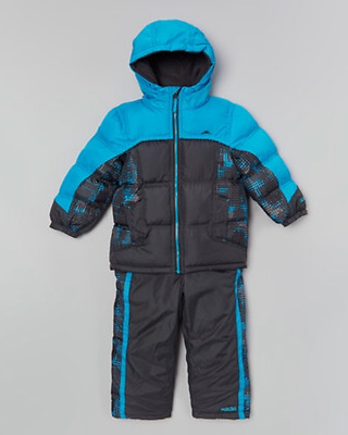 NEW pacific trail infant snowsuit snow suit puffer coat and ski bib 24 months