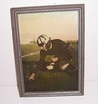 Vintage Antique 1940s Framed Photo of Football Player