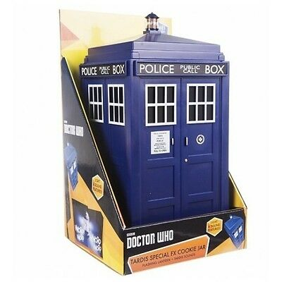 "DOCTOR WHO - Tardis 10"" Light & Sound FX Cookie Jar (Zeon Ltd.) #NEW"