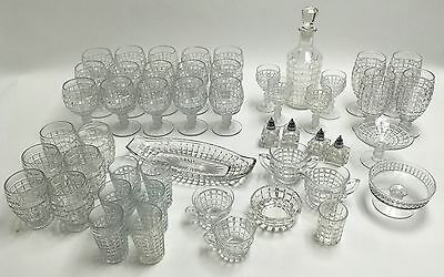 Heisey #1425 Clear Victorian 49 piece Collection