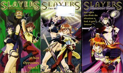 Slayers Anime Adv Films Anime VHS Tape Lot - (Explosion Array / Dragon Slave / M