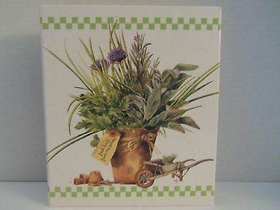 NEW Hallmark M Bastin Nature's Sketchbook Garden 3 Ring Recipe Binder Organizer