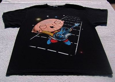 FAMILY GUY stewie playing guitar LARGE T-SHIRT
