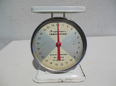 Vintage 25# American Family Scale  Works Good Usa Kitchen Baking