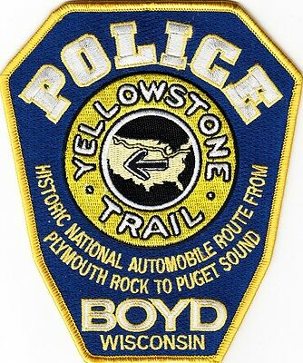 WISCONSIN  -  BOYD  POLICE  DEPARTMENT    Patch