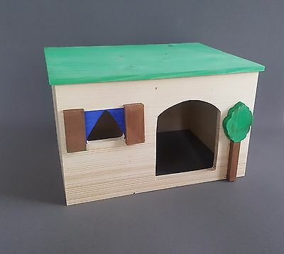 Large Hamster Wooden House Cage Accessories Rat Mouse Pet Rodents Gerbil Animals