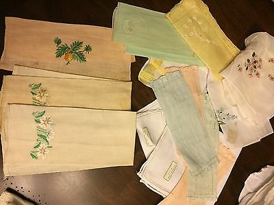 Lot of 15 Mixed Vintage Handkerchiefs Hankies  Some With Original Stickers