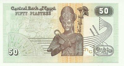 2017  Egypt  50 Piastres   Uncirculated  Nice Looking Note