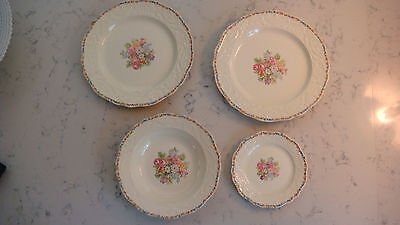 Adam Antique By Steubenville Dinnerware *2 dinner plates/1 bread plate/1 bowl*