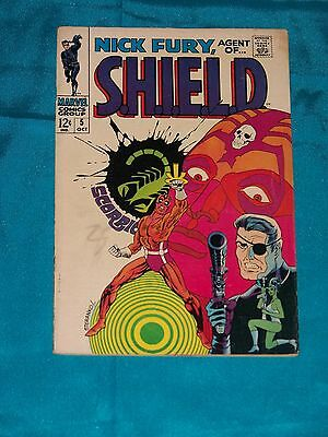 NICK FURY, AGENT OF S.H.I.E.L.D. # 5, Oct. 1968, STERANKO, FINE PLUS Condition
