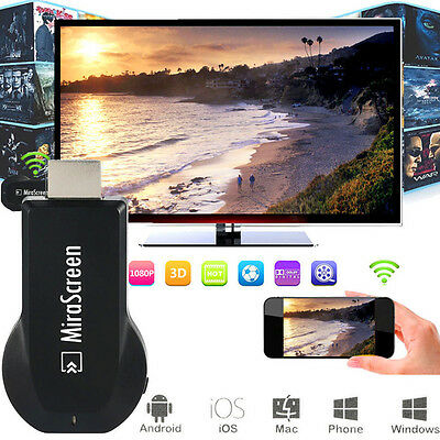 Hot new MiraScreen WIFI HD TV Dongle Miracast DLNA Airplay HDMI 1080P Receiver