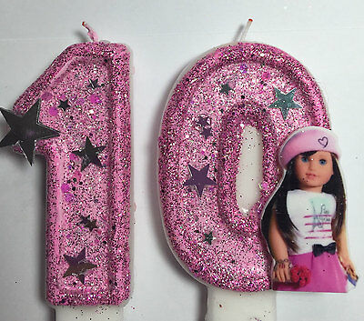 American Girl  Birthday Candle. cake topper, cupcake topper