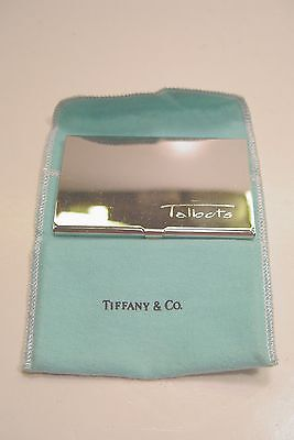 Tiffany & Co. Talbots Silver Plated Business Card Holder.
