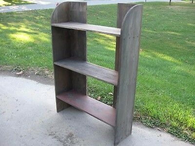 Bucket Bench from original barn wood using square nails shelf vintage paint old