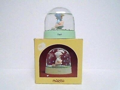 Enesco Precious Moments 1987 March Water Dome Excellent Condition