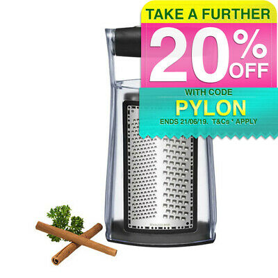Scanpan 2 Side Box Grater Stainless Steel Zest/Cheese Shredder/Food/Kitchen