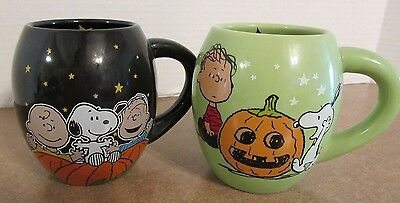 Set Of 2 Peanuts Halloween Mugs