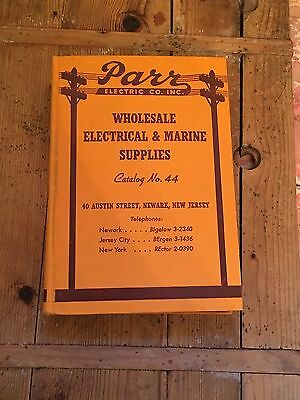 Vintage Newark New Jersey Electric Electrical Catalog Wholesale Parr Marine Supp