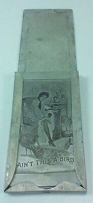 Antique A Case Funny Things From Paris Naughty Victorian Aluminum Picture Cards