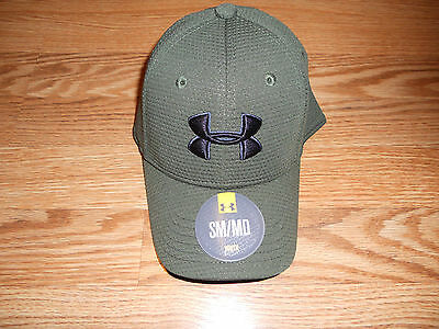 NEW Olive Youth S/M Under Armour Baseball Cap With Black Symbol 1295733