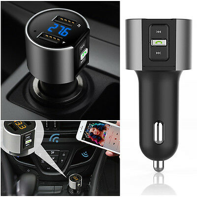 Bluetooth FM Transmitter Wireless Radio Adapter MP3 Player Car USB Charger USA