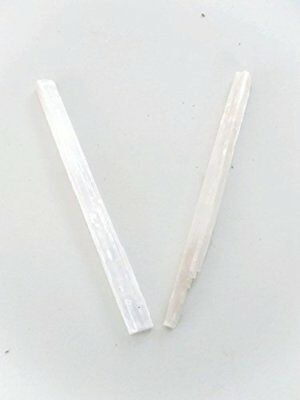 Large Raw Selenite Sticks 10 to 12 Inches Set of Two