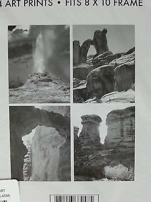 "Set of 4 Rare Rock Formations Art Prints Fits 8""x10"" Frame"