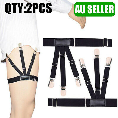 1Pair Mens Elastic Military Shirt Holder Stay Suspender Male Shirt Garter Belts