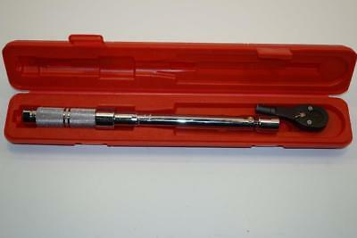 """New Proto 3/8""""dr 16-80 ft/lbs Micrometer Changeable Head Torque Wrench JH5-6006C"""