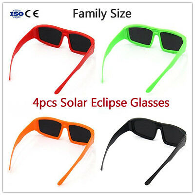Solar Eclipse Glasses Safe Solar Viewing Glasses for Total Solar Eclipse 4-Pack