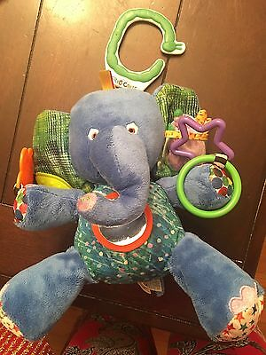 "8"" Eric Carle BLUE ELEPHANT Plush ACTIVITY & Senses Soft BABY TOY STUFFED ANIMAL"