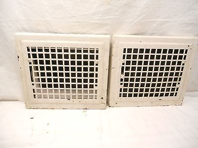 Vintage Furnace Wall Grates/registers, Lot Of 2, Used