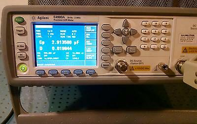 Agilent E4980A 20 Hz to 2 MHz Precision LCR Meter opt 710, CALIBRATED 06/18