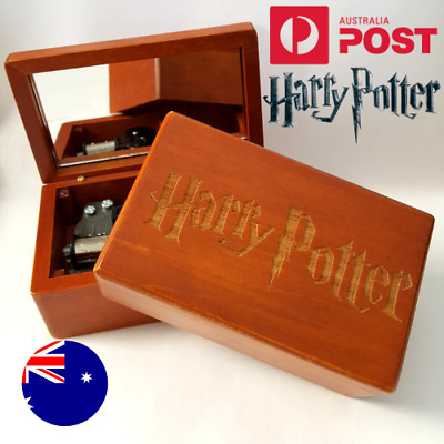 Vintage Rectangle Jewelry Wood Wooden Music Box : HARRY POTTER Hedwig's Theme