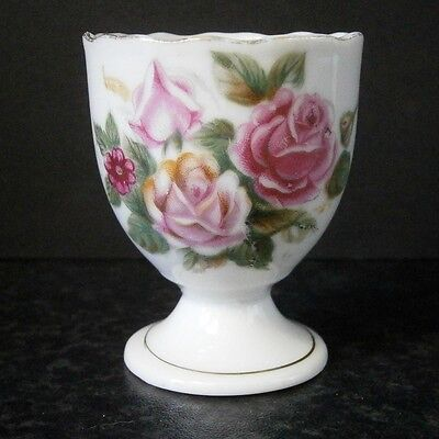Vintage Japanese China Romantic Old Fashioned Roses Egg Cup