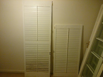 white wooden high quaility window louvres shutters smaller small 1476mm × 713mm