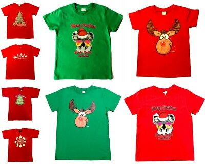 Adult Mens Womens Christmas Xmas T Shirt Tee 100%Cotton Red Green Reindeer Koala
