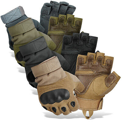 Tactical Handschuhe Paintball Halbfinger Bike Gloves Knöchelschutz BlackSnake®