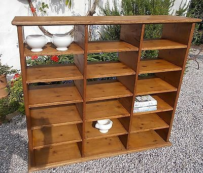 pigeonhole shelves, industrial shelving, Vintage French pine pigeonholes,